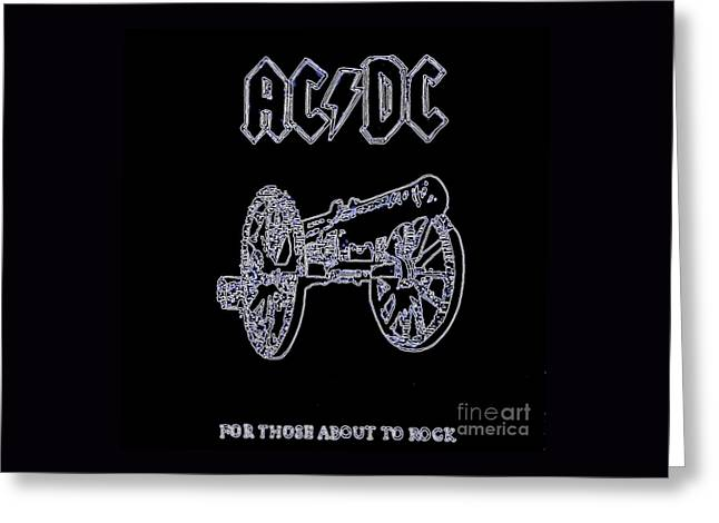 Acdc - Black Greeting Card