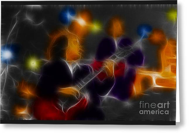 Acdc-angus-95-e5-fractal Greeting Card by Gary Gingrich Galleries
