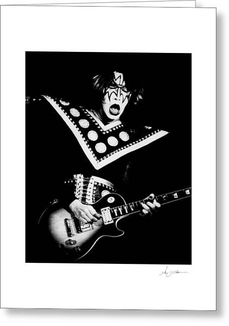 Ace Frehley Greeting Card by Glenn Grossman