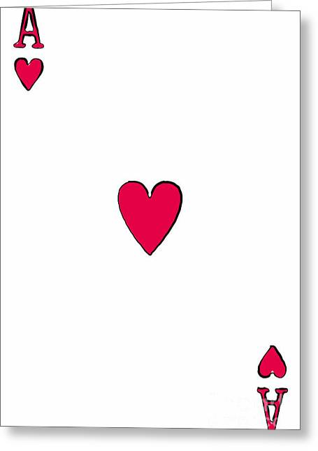 Ace Of Hearts 20140301 Greeting Card by Wingsdomain Art and Photography