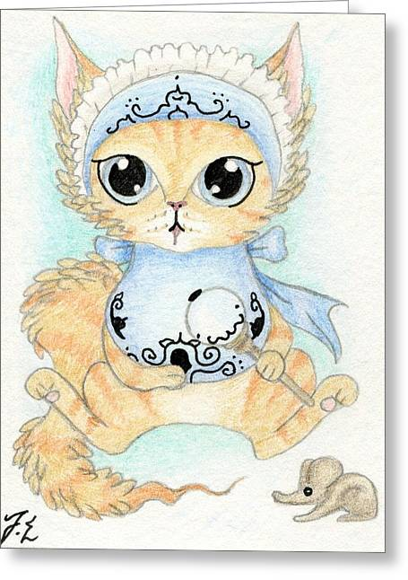 Aceo Baby Kitty Greeting Card