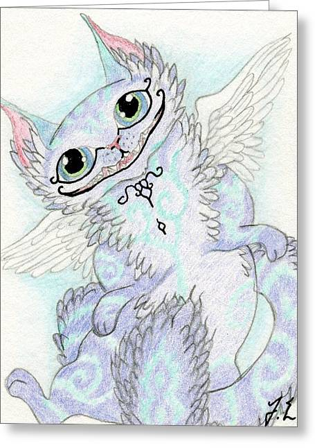 Aceo Cheshire Cat Greeting Card