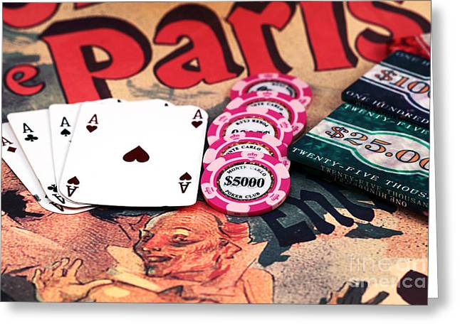 Aces In Paris Greeting Card