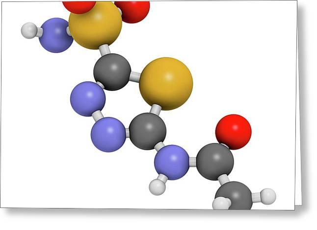 Acetazolamide Diuretic Drug Molecule Greeting Card