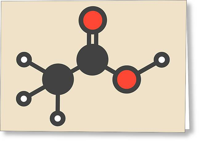 Acetic Acid Molecule Greeting Card by Molekuul