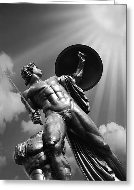 Achilles Greeting Card by Mark Rogan