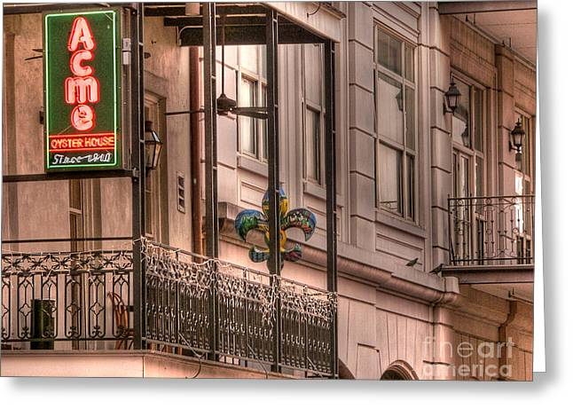 Acme Oyster House Greeting Card by David Bearden