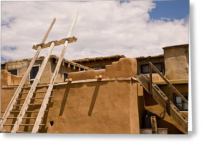 Acoma Building Greeting Card by James Gay