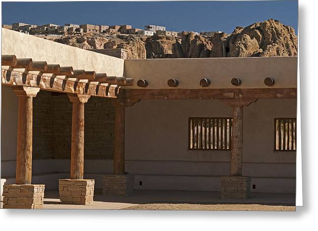 Acoma Old And New Greeting Card by Jennifer Nelson