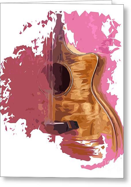 Acoustic Guitar 1 Greeting Card