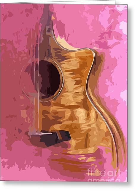 Acoustic Guitar 2 Greeting Card by Pablo Franchi