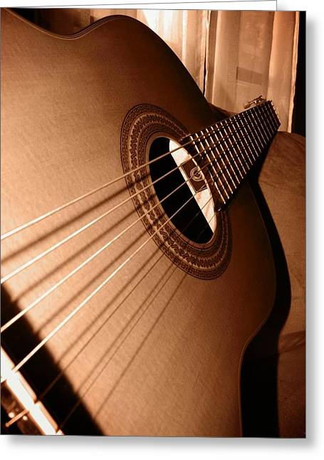 Acoustic Guitar Greeting Card