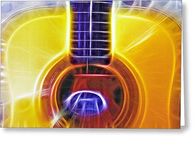 Acoustical Fractal 2 Greeting Card by Steve Ohlsen