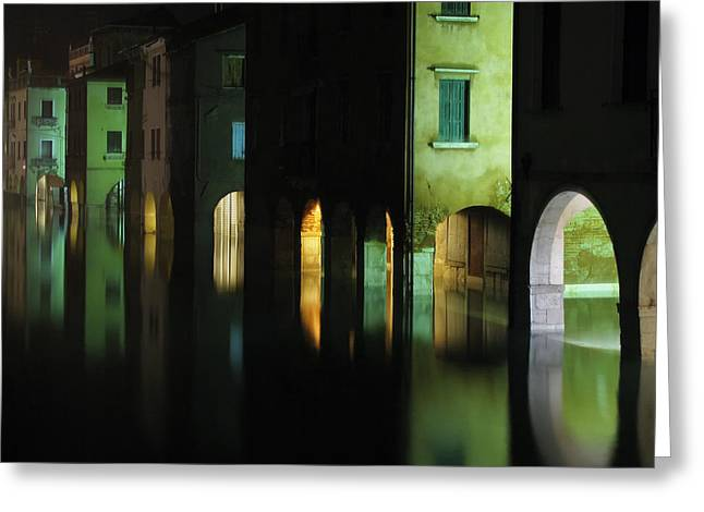 Acqua Alta Greeting Card by Mattia Oselladore