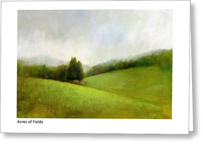 Acres Of Fields Greeting Card