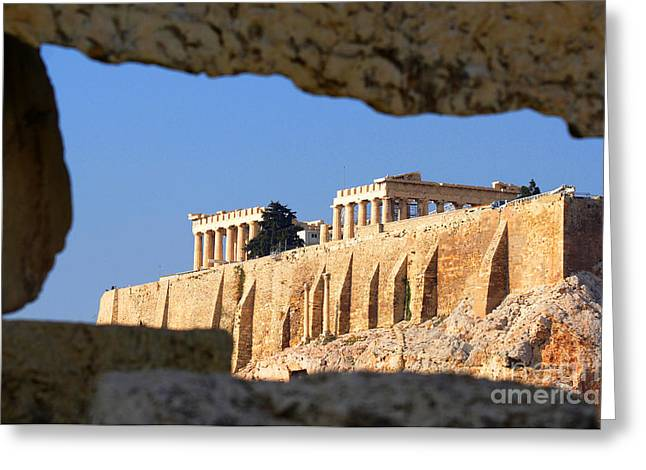 Acropolis Greeting Card by Holger Ostwald