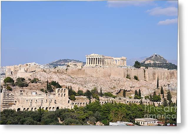 Acropolis Of Athens Greeting Card