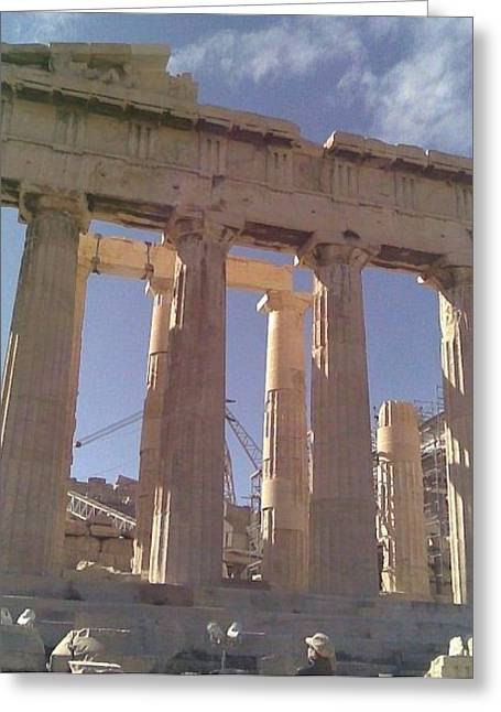 Acropolis-parthenon Greeting Card by Katerina Kostaki
