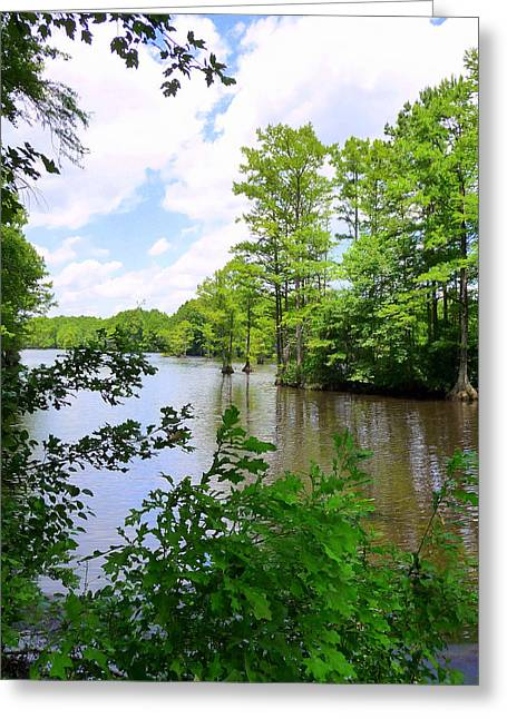 Greeting Card featuring the photograph Across Crystal Lake by Jim Whalen