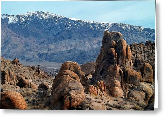 Across Owens Valley - U.s. Highway 395 Greeting Card by Glenn McCarthy Art and Photography