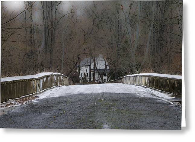 Across The Eight Arch Bridge - Bucks County Pa Greeting Card