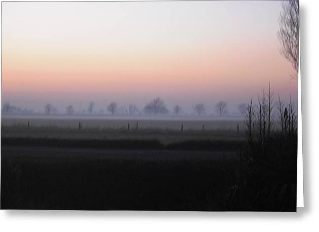 Across The Fen Greeting Card