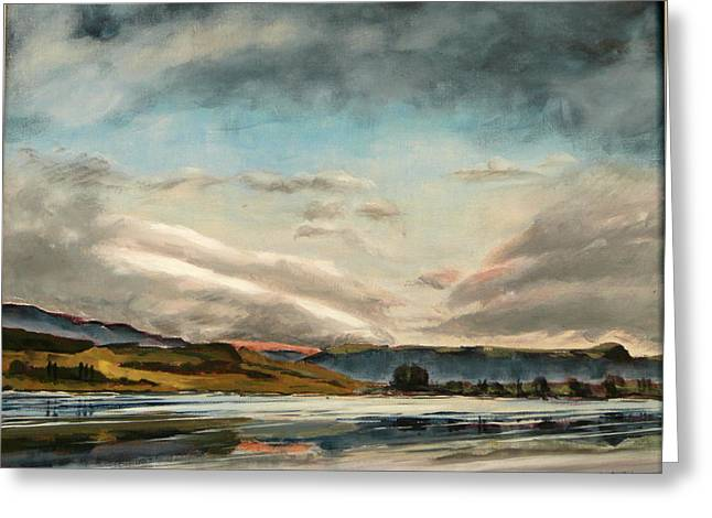 Across The Loch Greeting Card by Jo Appleby