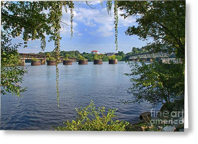 Across The Tennessee Greeting Card by Paul Mashburn