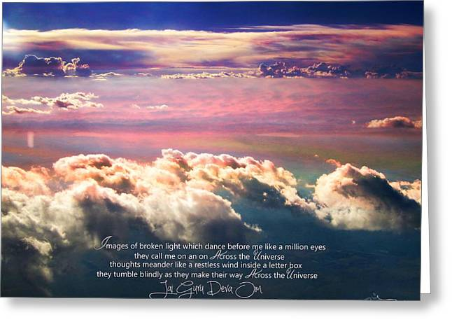 Greeting Card featuring the photograph Across The Universe by Cindy Greenstein