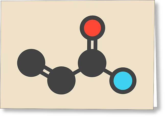 Acrylamide Molecule Greeting Card by Molekuul