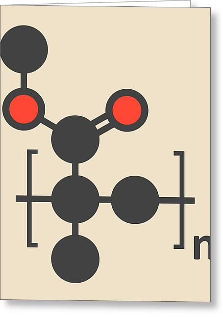 Acrylic Glass Polymer Molecule Greeting Card by Molekuul