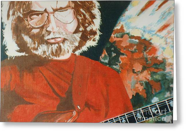Greeting Card featuring the painting Acrylic Jerry by Stuart Engel