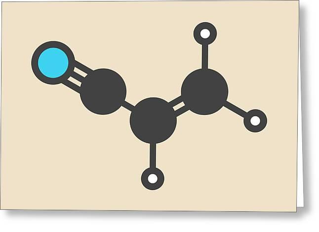 Acrylonitrile Molecule Greeting Card by Molekuul
