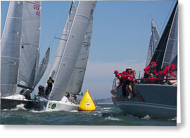 Action On The Bay Greeting Card