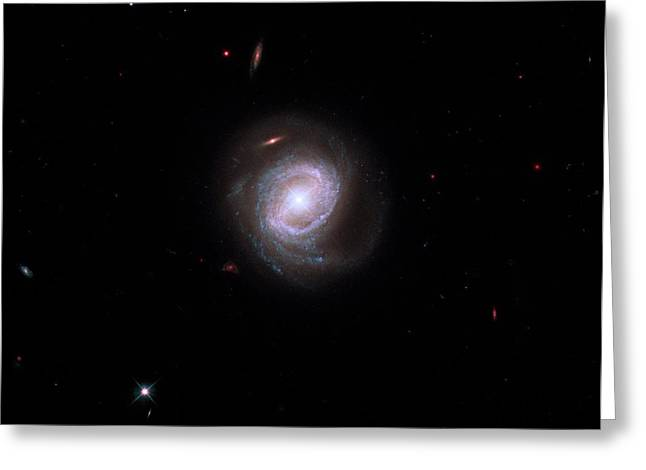 Active Galaxy Markarian 817 Greeting Card by Nasa/esa/stsci/hubble Sm4 Ero Team
