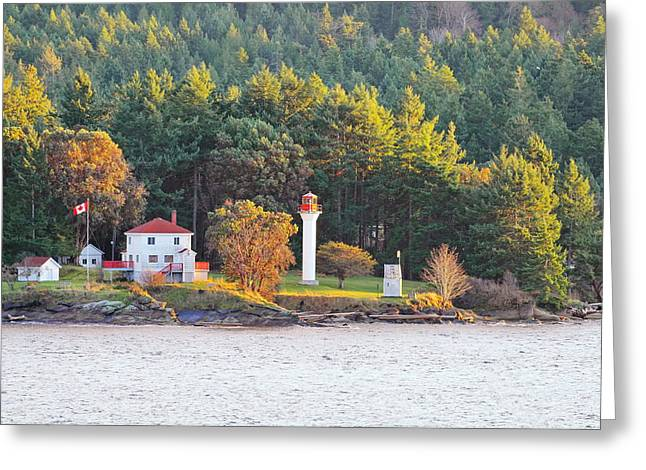 Active Pass Light House Greeting Card