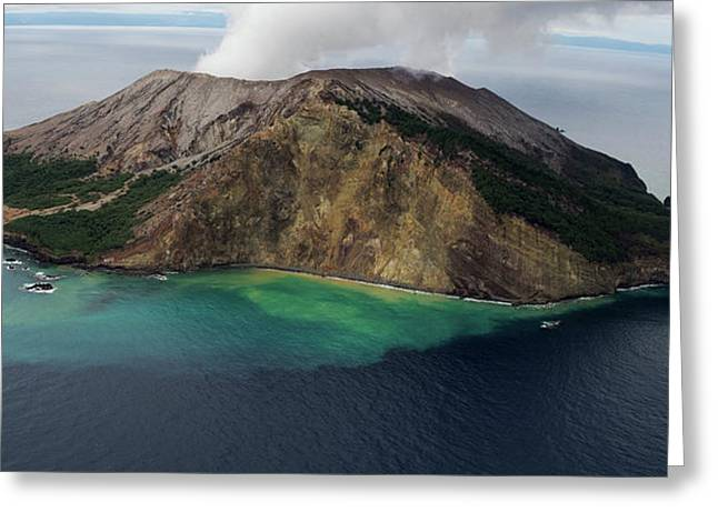 Active Volcanic Island, White Island Greeting Card by Panoramic Images