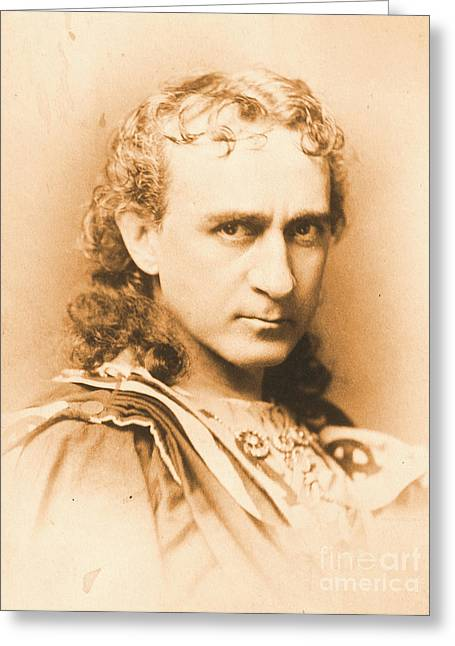 Actor Edwin Booth C1860 Greeting Card by Padre Art