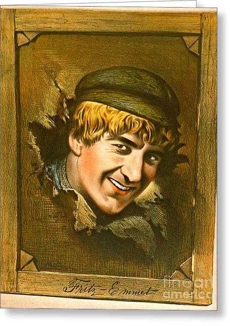 Actor Fritz-emmet 1880 Greeting Card by Padre Art