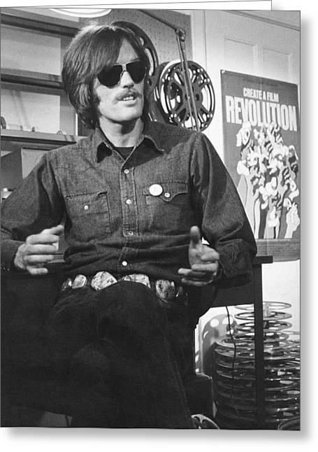 Actor Peter Fonda Greeting Card by Underwood Archives