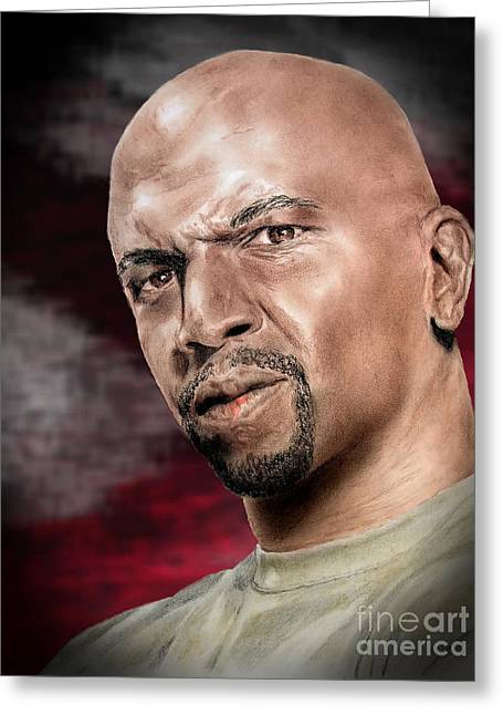 Actor Terry Crews II Greeting Card by Jim Fitzpatrick