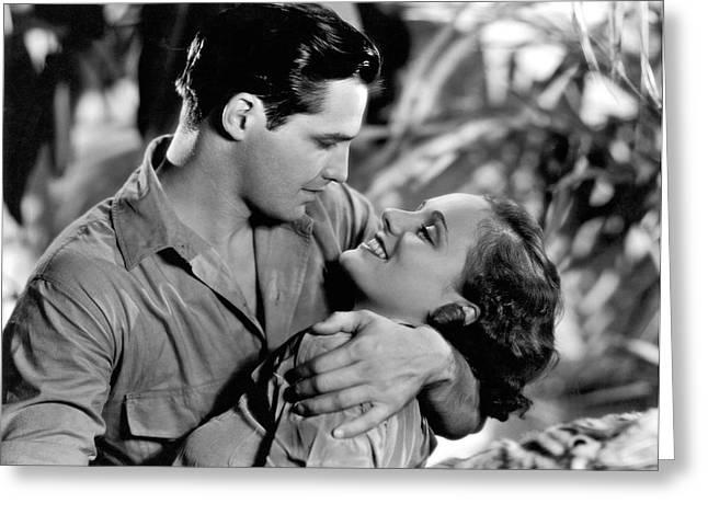 Actors' Jungle Romance Greeting Card by Underwood Archives