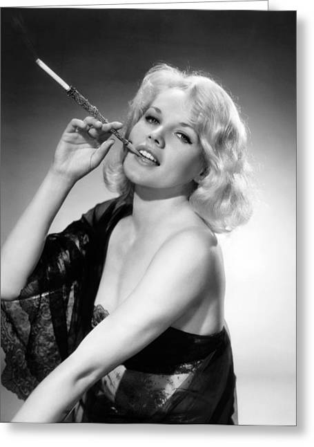 Actress Carroll Baker Greeting Card by Underwood Archives