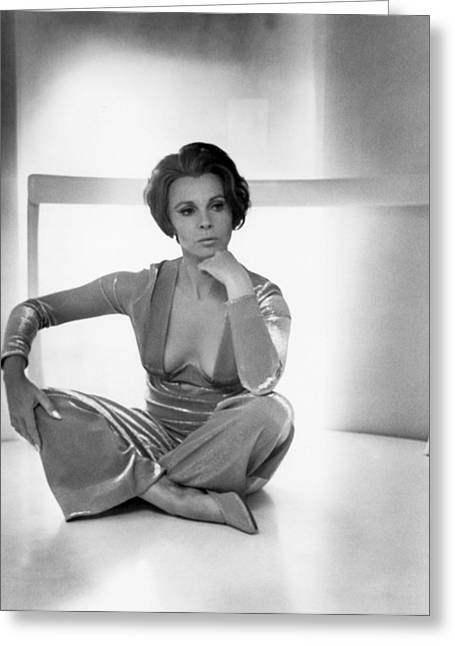 Actress Claire Bloom Greeting Card by Underwood Archives