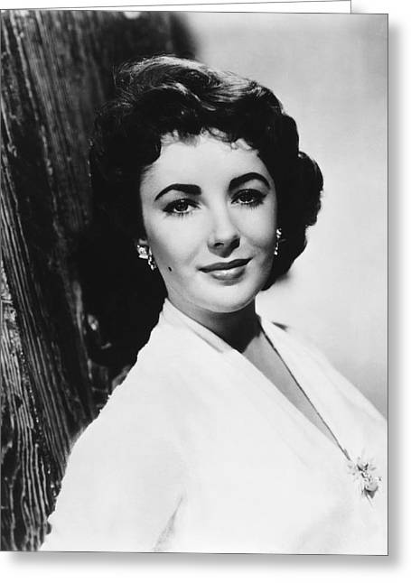 Actress Elizabeth Taylor Greeting Card by Underwood Archives