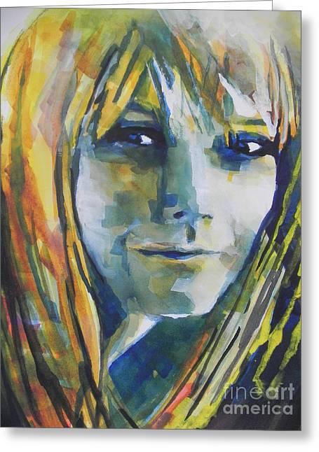 Actress Gwyneth Paltrow Greeting Card by Chrisann Ellis
