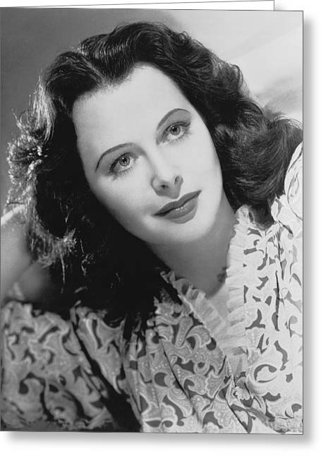 Actress Hedy Lamarr Greeting Card by Underwood Archives