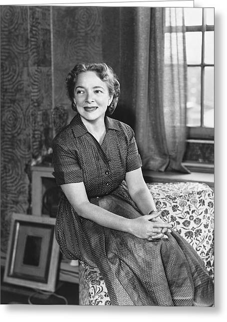 Actress Helen Hayes Greeting Card