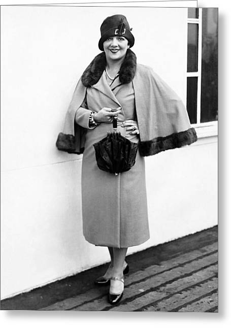 Actress Irene Bordoni Greeting Card