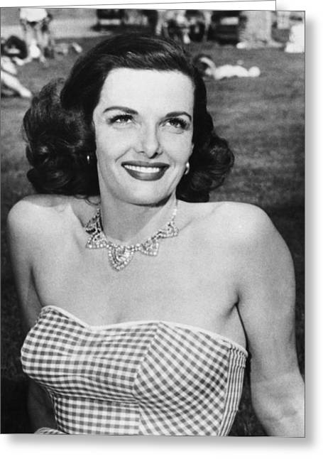 Actress Jane Russell Greeting Card